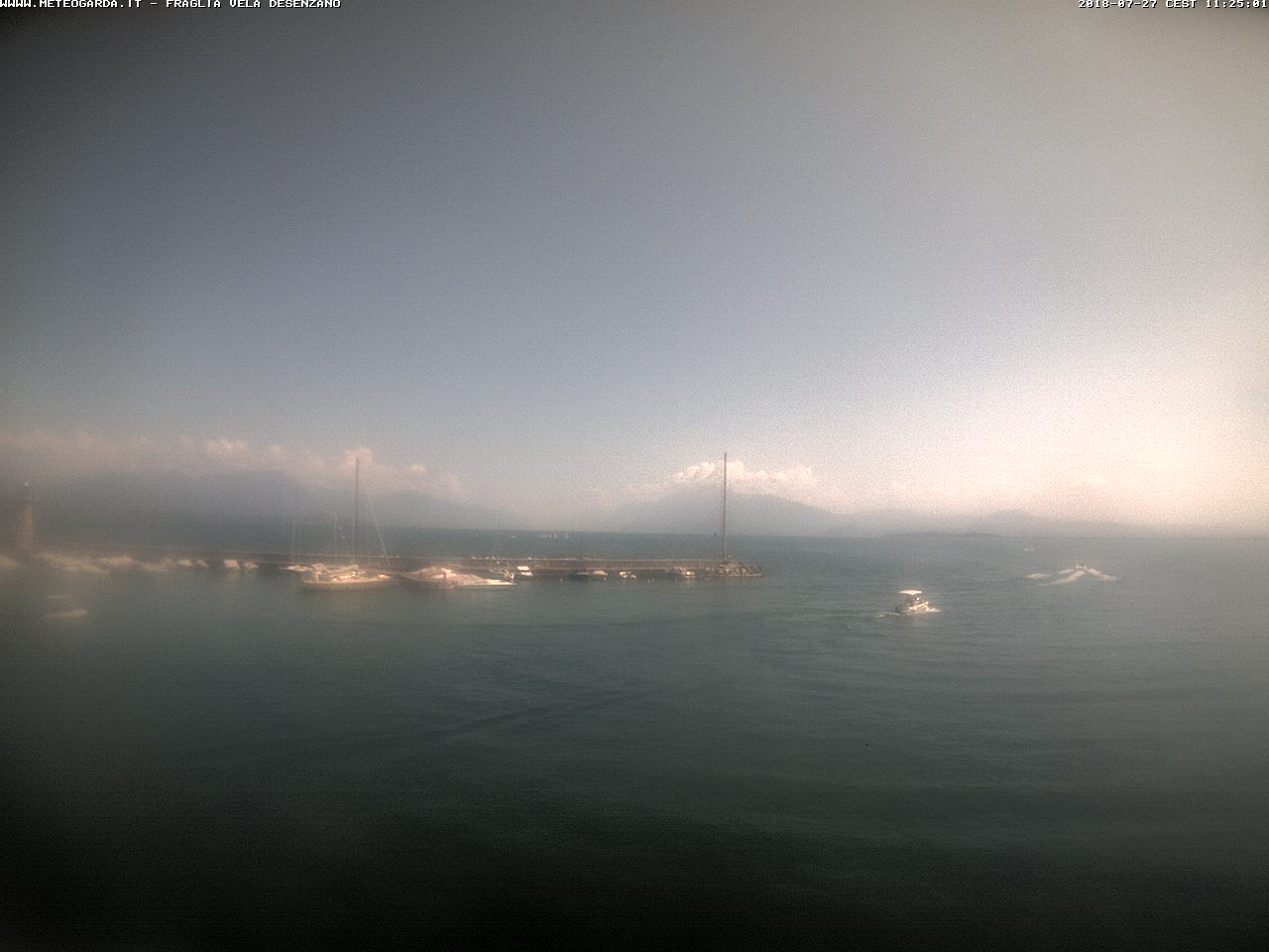 Desenzano webcam - Monte Baldo Harbour webcam, Lombardy, Brescia