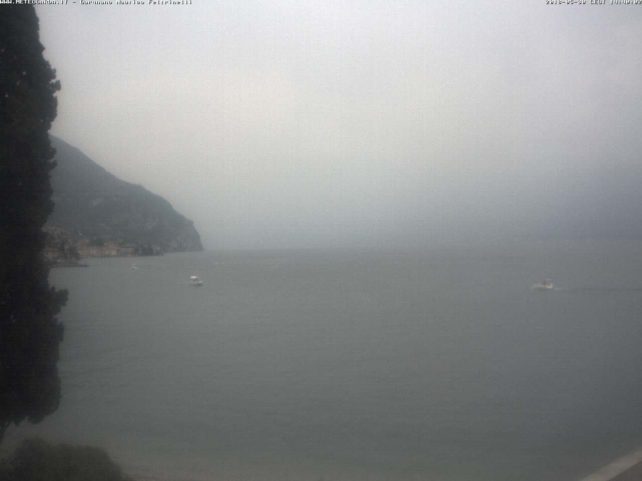 Webcam auf der Nautica Feltrinelli in Gargnano - meteogarda.it